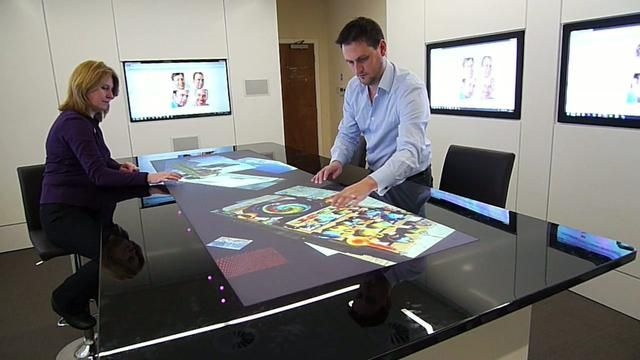 Future Multitouch Meeting Room | Meeting room, Conference room design, Innovative office