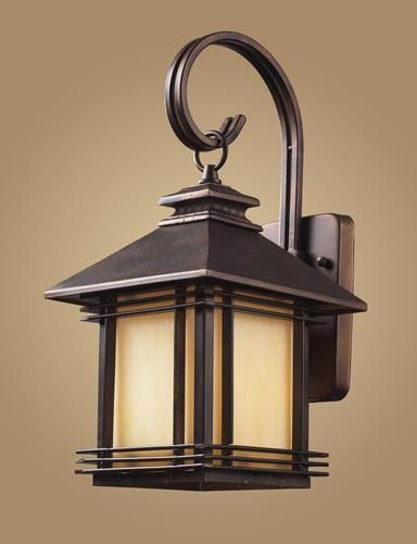 Elk lighting 42100 1 one light outdoor wall sconce in hazelnut bronze