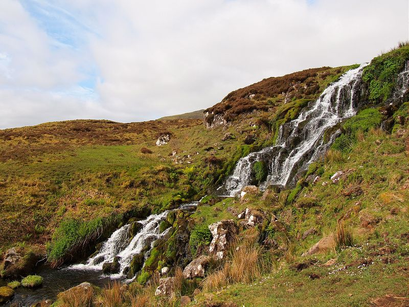 The Isle of Skye: Bride's Veil Waterfall, it's supposed to be lucky to drink from them