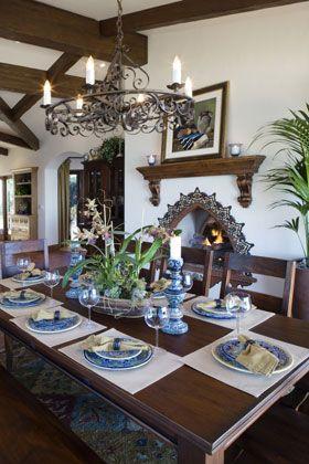 Superb Dining Room Spanish Architecture Spanish Colonial Download Free Architecture Designs Rallybritishbridgeorg