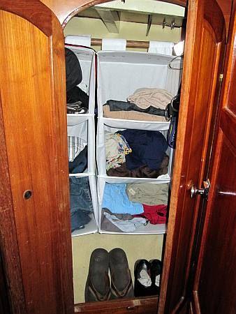 Superb Hanging Locker Storage. Great Idea.