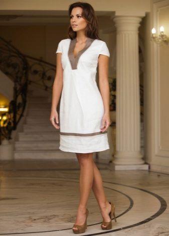 3ca143469414539 Льняные сарафаны и платья (50 фото): из Италии и Турции, с кружевом,  модели, из льна и хлопка, для офиса, как правильно выбрать
