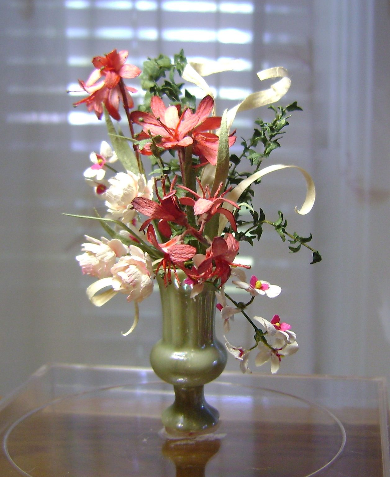 """Tall flowers in green vase - 1"""" scale To contact artist: http://www.pinterest.com/minishirl/"""