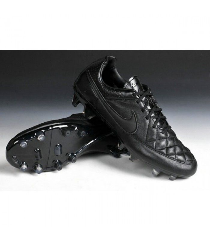 timeless design fb1aa b45a5 Acheter Chaussure de Football Nike Tiempo Legend V FG Terrain Sec Homme Tout  Noir pas cher