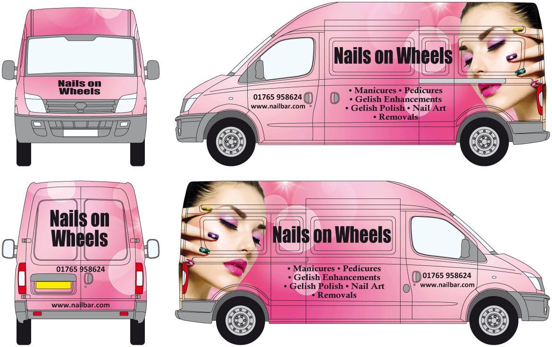 Nails salon van graphics www.salononwheels.co.uk