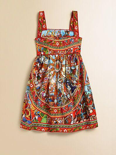 Dolce & Gabbana - Girls Print Cotton Dress