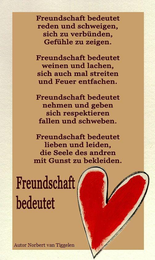 Freundschaft Van Tiggelen Gedichte Menschen Leben