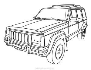 Free Jeep Coloring Pages Jeep Drawing Jeep Cherokee Cars Coloring Pages