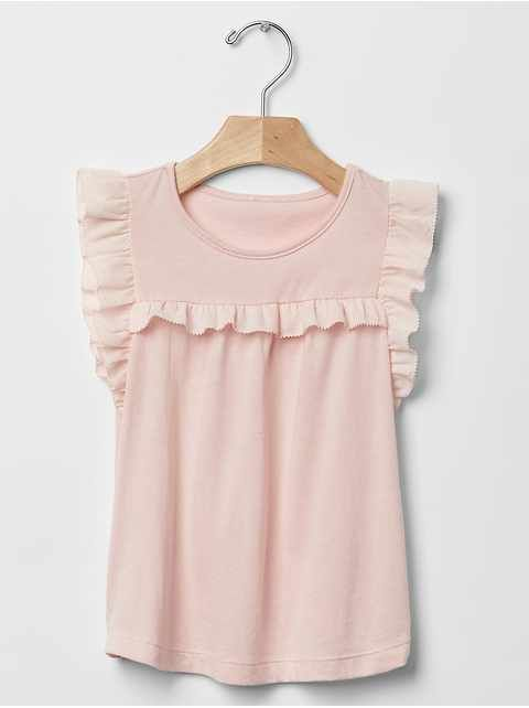 9189cb685 Toddler Girls' Tops: pleated tops, turtleneck tops, ruffle tops at babyGap  | Gap