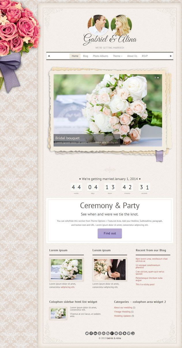 35 Best Wedding Wordpress Themes 2018 Wedding Websites