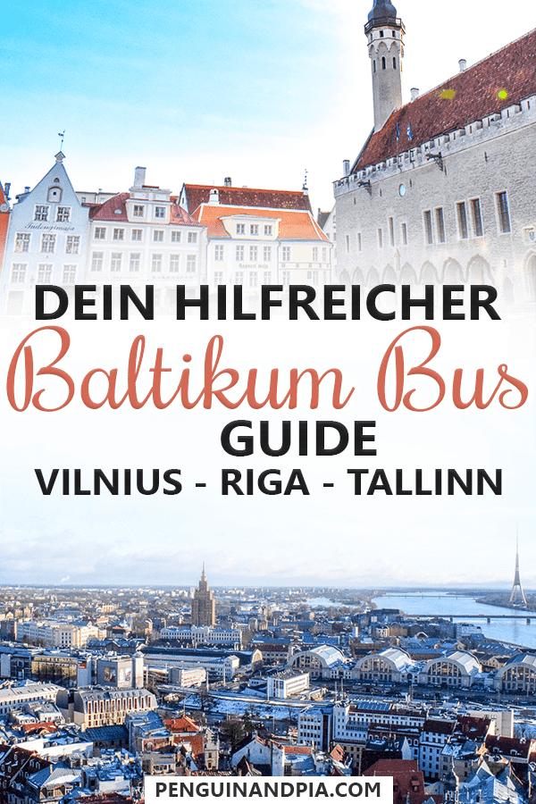 Das Baltikum lässt sich hervorragend mit dem Bus entdecken. In diesem Beitrag verraten wir dir alles Wichtige, um deine Busfahrt zwischen Vilnius, Riga und Tallinn zu planen! #baltikum #reisetipps