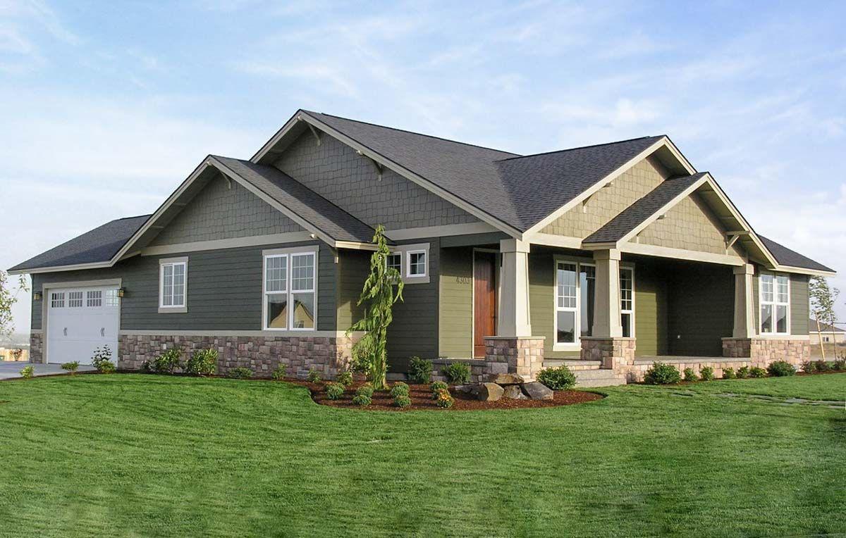 Plan 6935am Open Living Area In Craftsman Design Craftsman House Plans Ranch Style House Plans Craftsman Style House Plans