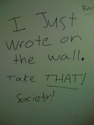 UselessHumor: Funny Signs: The Best of Bathroom Stall Graffiti & Writing. | Who Gives a F#%@ about an Oxford Comma?