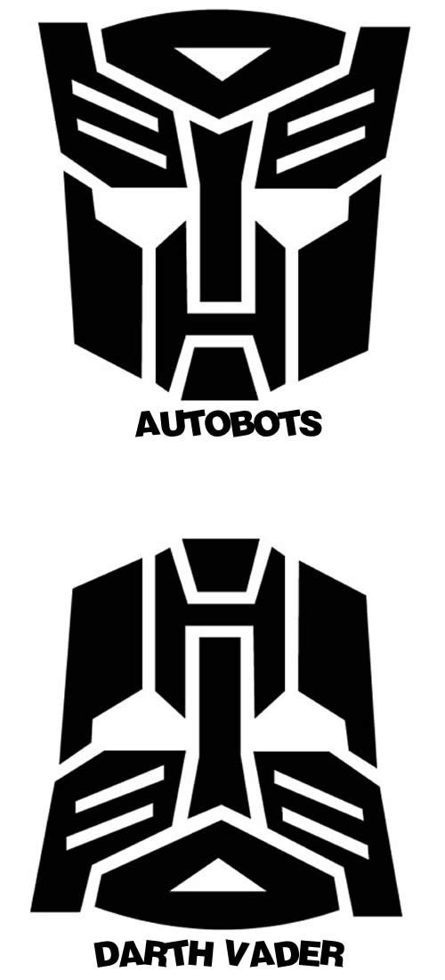 Symbol Of The Autobots Or Darth Vaders Helmet You Be The Judge