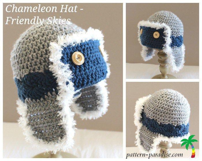 Chameleon Friendly Skies   Pinterest   Mütze