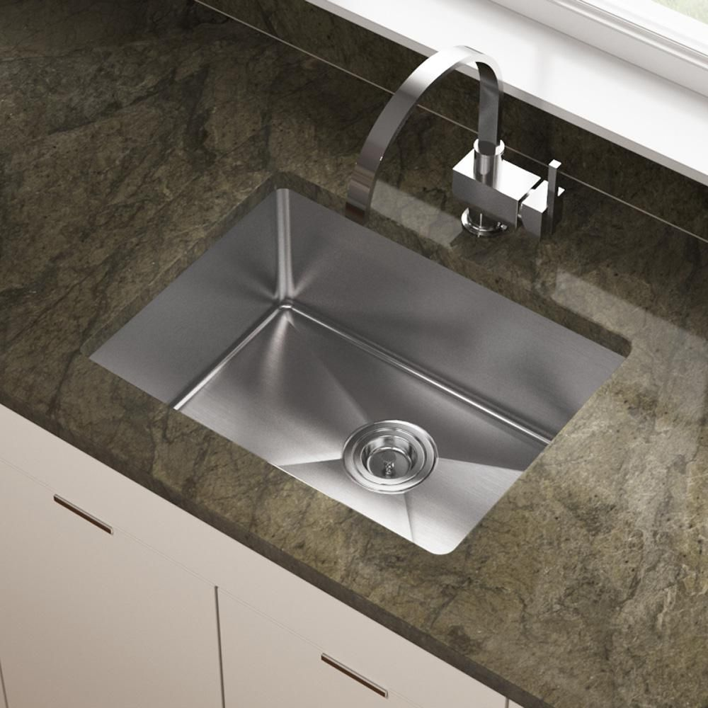 150 Mr Direct Undermount Stainless Steel 23 In Single Bowl Kitchen Sink 1823 1 Single Bowl Kitchen Sink Undermount Kitchen Sinks Stainless Steel Kitchen Sink