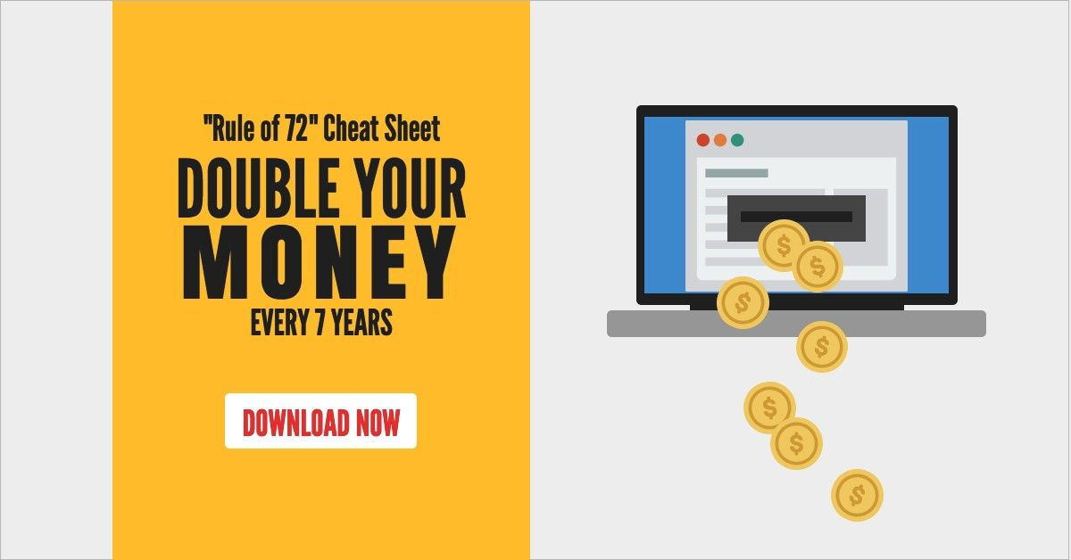 calculate how long it will take you to double your investments by learning the rule of 72 use my free cheat sheet