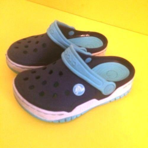 bee0943070ff4 Blue Aqua Crocs Kids Shoes Clogs Size 10 11 youth toddler  Crocs  Clogs