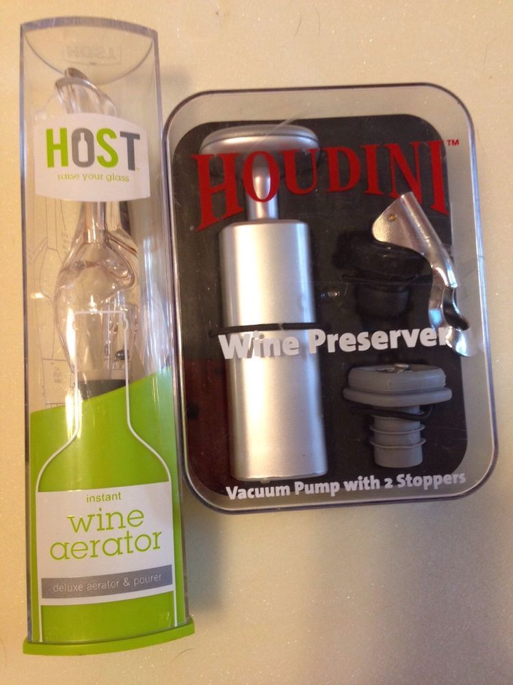 Houdini Wine Preserver Instant Wine Aerator By Host Ebay Stuff