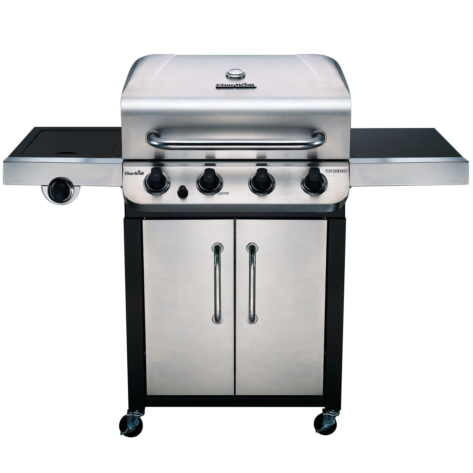 Char Broil Performance 4 Burner Propane Gas Grill With Cabinet