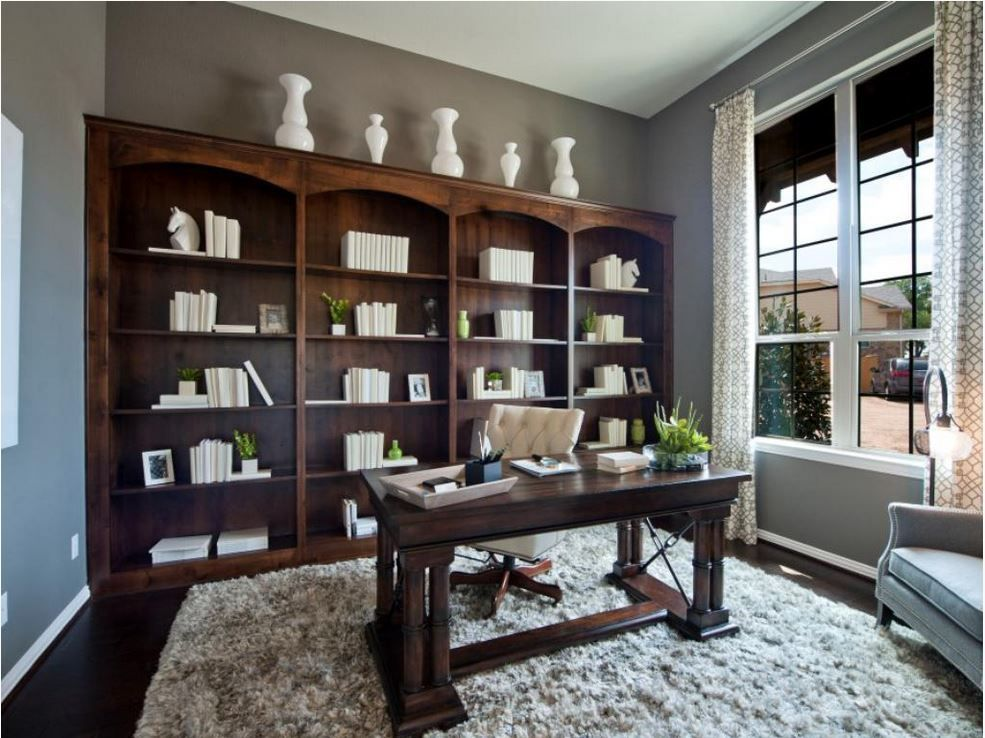 Burrows Cabinets Study With Built In Bookshelves In Knotty