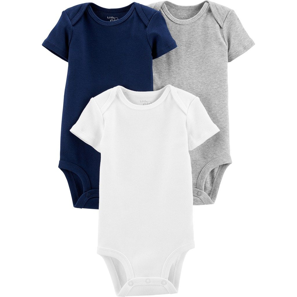 ea27fad29 Baby Boy Little Planet Organic by Carter s 3 Pack Solid Bodysuits ...