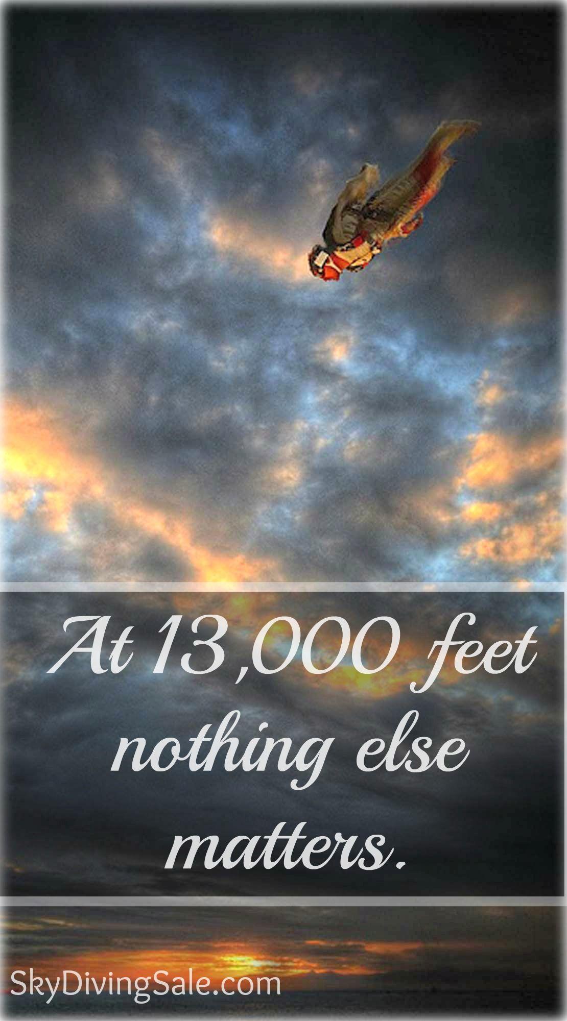 At 13 000 Feet Nothing Else Matter Salto De Paraquedas