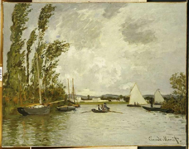 Claude Monet-Auf einem Seitenarm der Seine bei Argenteuil
