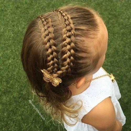 20 adorable trenzado peinados para ni as short hair - Peinados bonitos para ninas ...