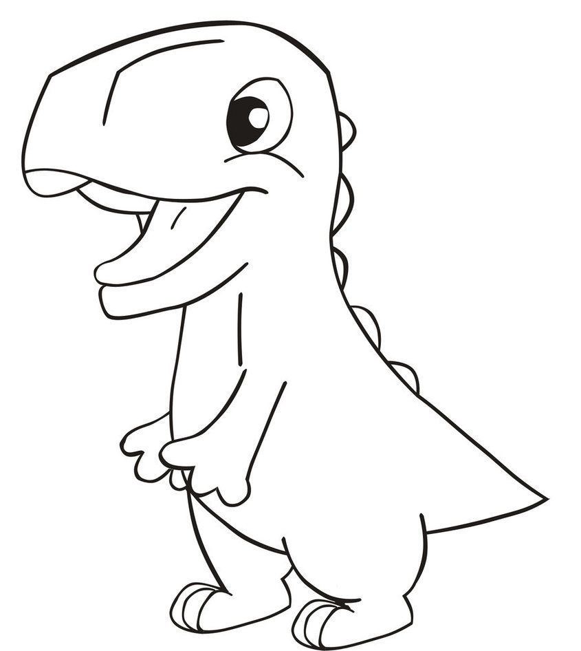 Easy Dinosaur Drawings Easy Dinosaur Drawing Drawn ...