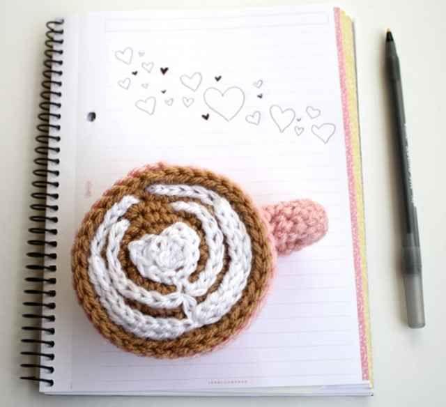 Crochet Latte Art sold by One Sheepish Knit.