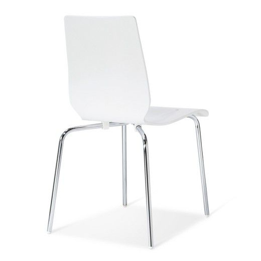Bent Plywood Stacking Chair White