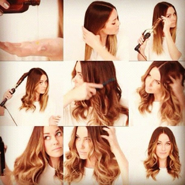 tutorial #laurenconrad #hair #ombre #curls #curling #iron #tutorial #hairstyle - @laurenconradfans- #webstagram