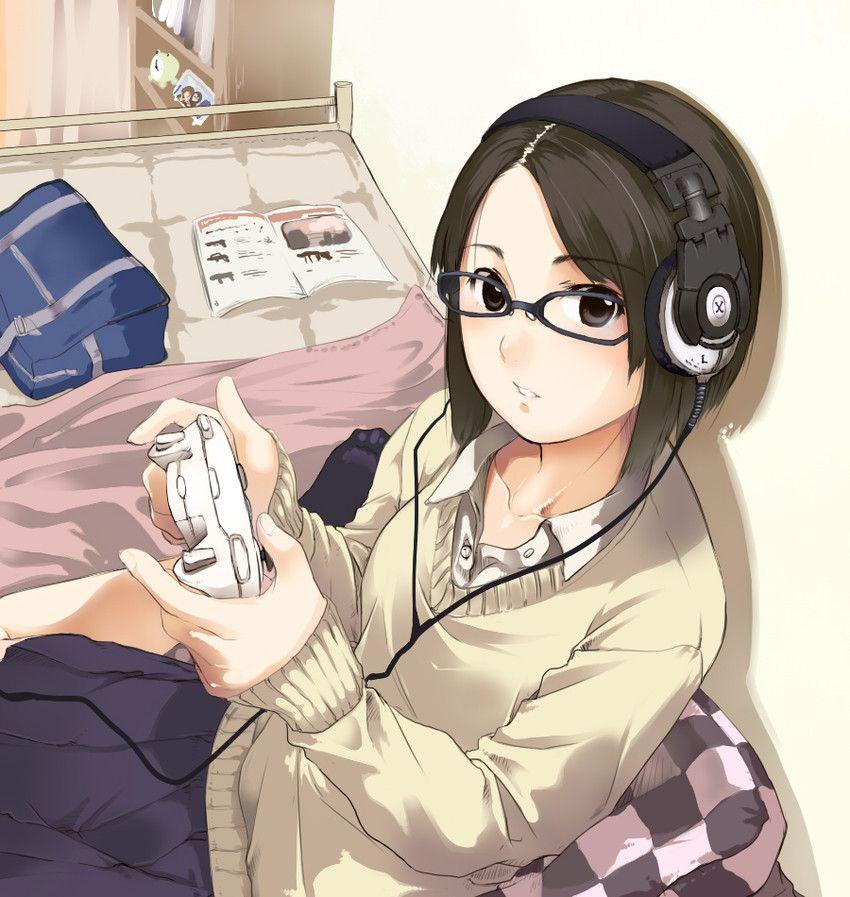 Anime Art Otaku Nerd Gamer Vidogame Game Controller Headphones Glasses Sweater Cute Kawaii Anime Otaku Day Anime Lovers