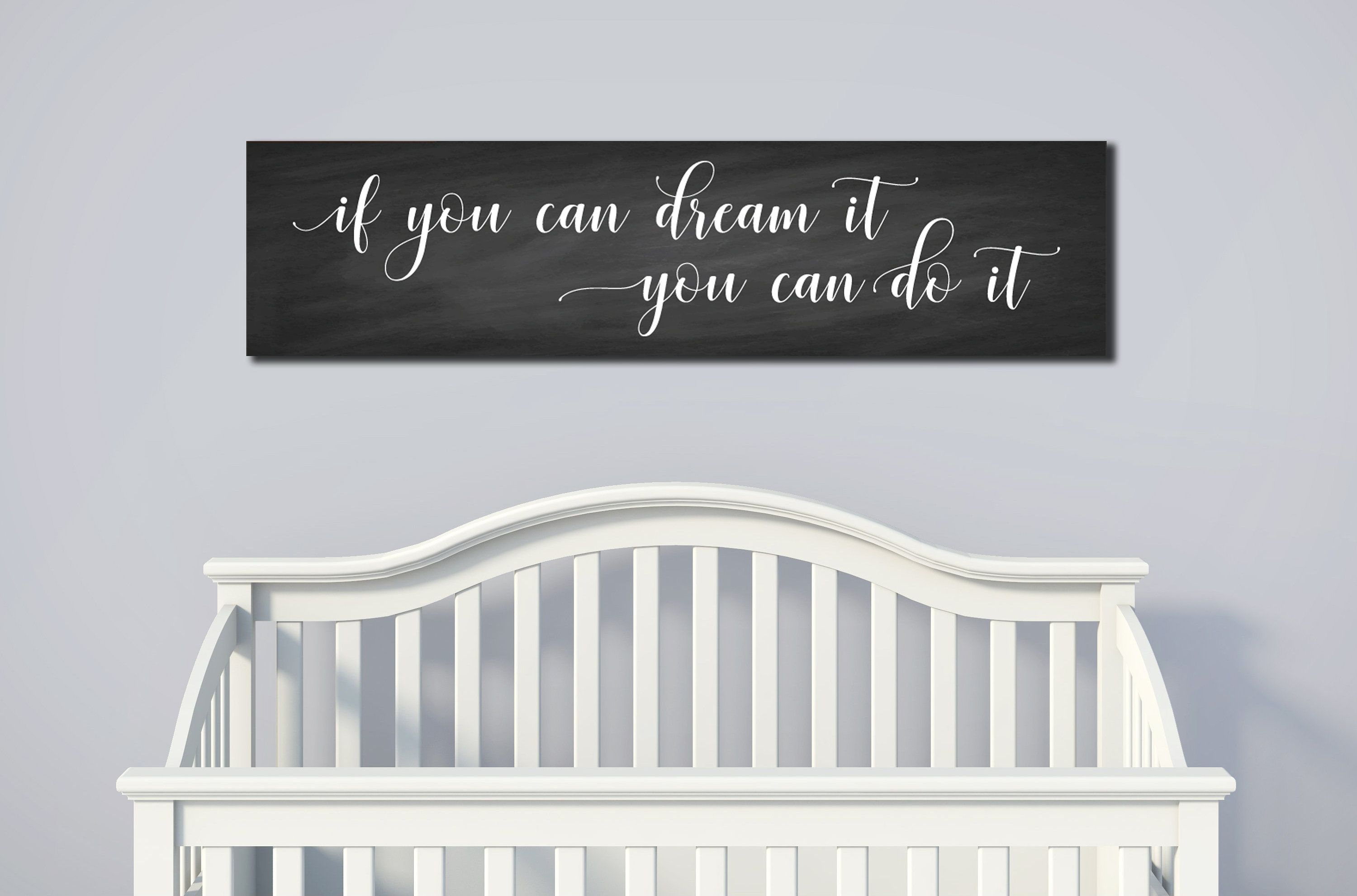 FARMHOUSE CANVAS Wall Art If you can dream it you can do