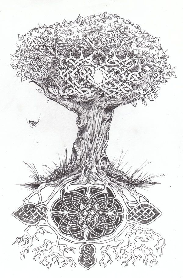 Celtic Oak Tree Tattoo | tree of life with rocks by tattoo design ...