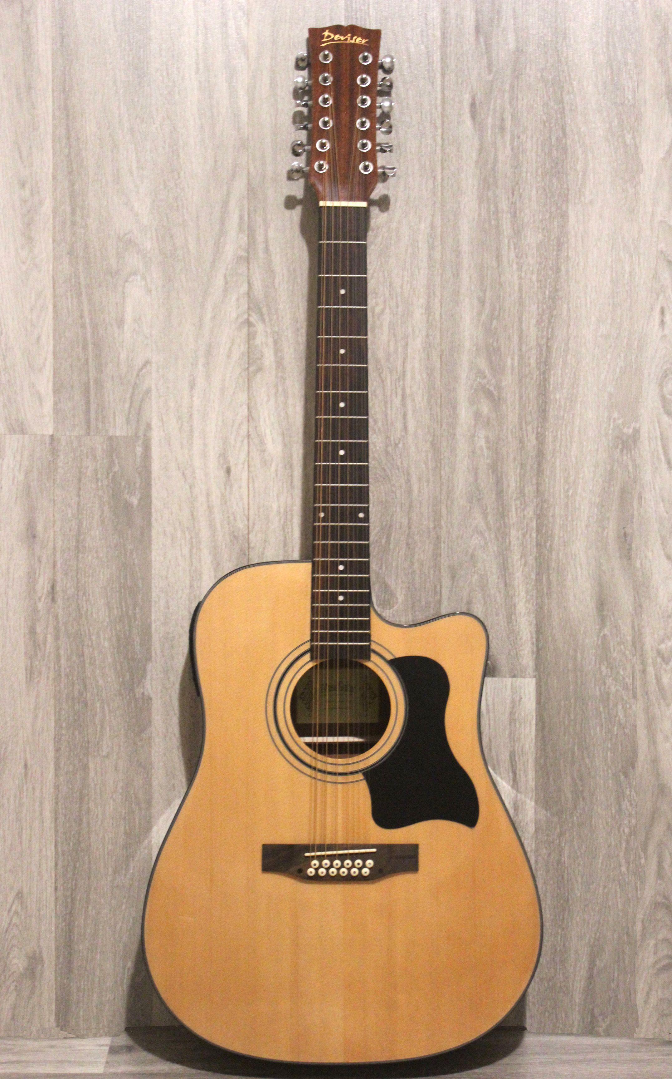 Acoustic Guitar 12 Strings Built In Tuner Eq Natural Imusic12eq Guitar Acoustic Guitar Guitar Tuners
