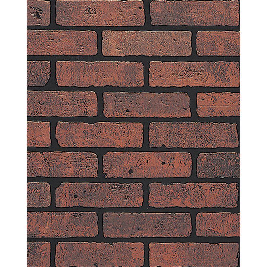 Painting Fake Brick Paneling Shop Dpi 1 4 In X 4 Ft X 8 Ft Red Brick Eggshell Hardboard Wall