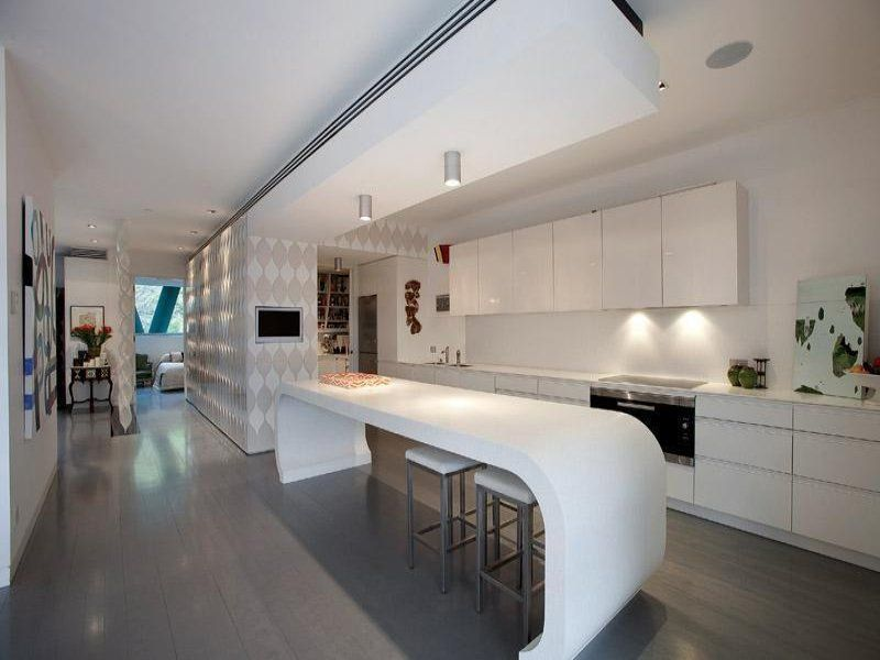 galley kitchen design with island - Fabulous Galley Kitchen Design ...