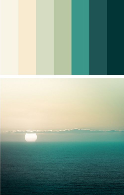 Nada como uma bela cartela de Cor! Um degradê ... Há !!! Eu sou apaixonada! Such calming colors