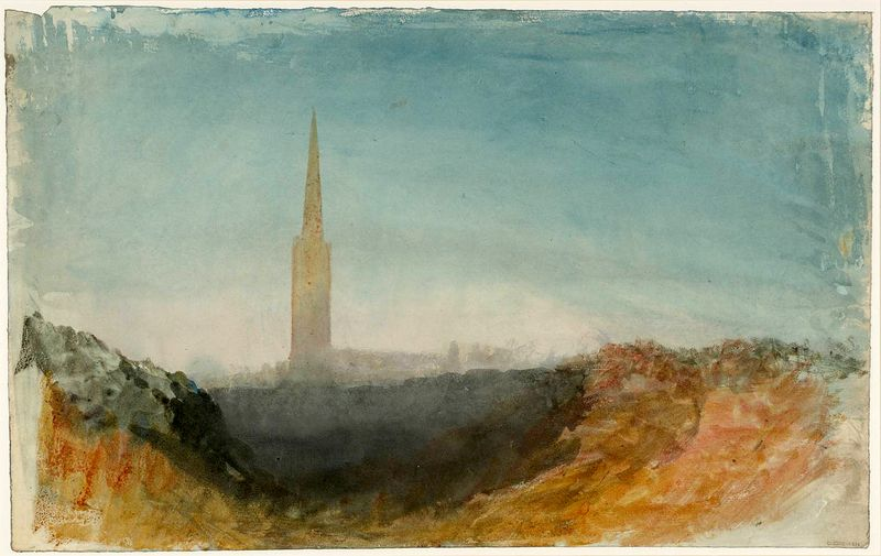 JMW Turner - A Church Spire, Possibly at Petworth, Grantham or Newark c.1828–30