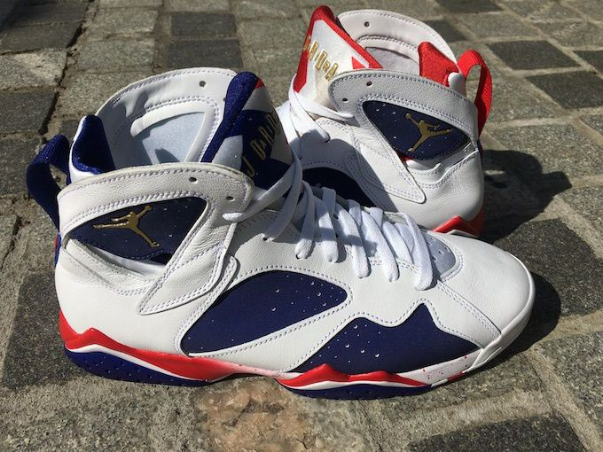 Nike Air Jordan VII Retro 7 Tinker Alternate Olympic 2016 White Gold 304775  123  cb0677cc3