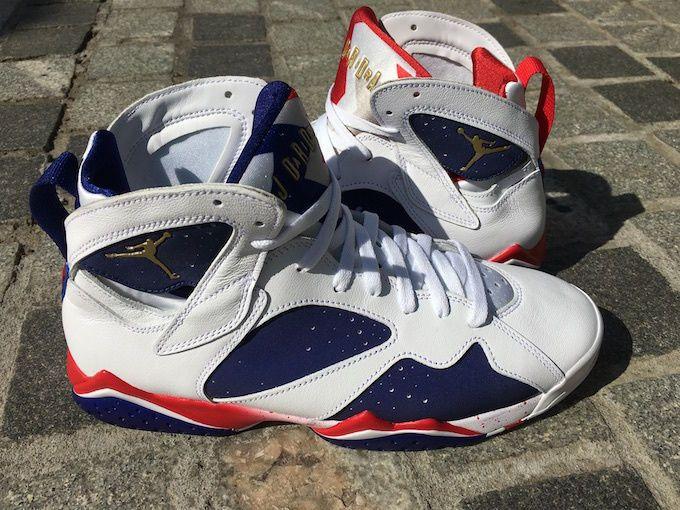 e1682178f2754b Nike Air Jordan VII Retro 7 Tinker Alternate Olympic 2016 White Gold 304775  123