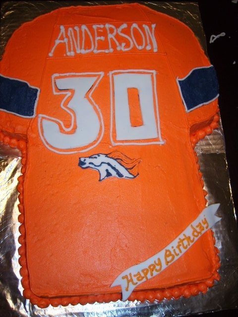 Denver Broncos 30th Birthday Cake By Carlymoon On Cake Central