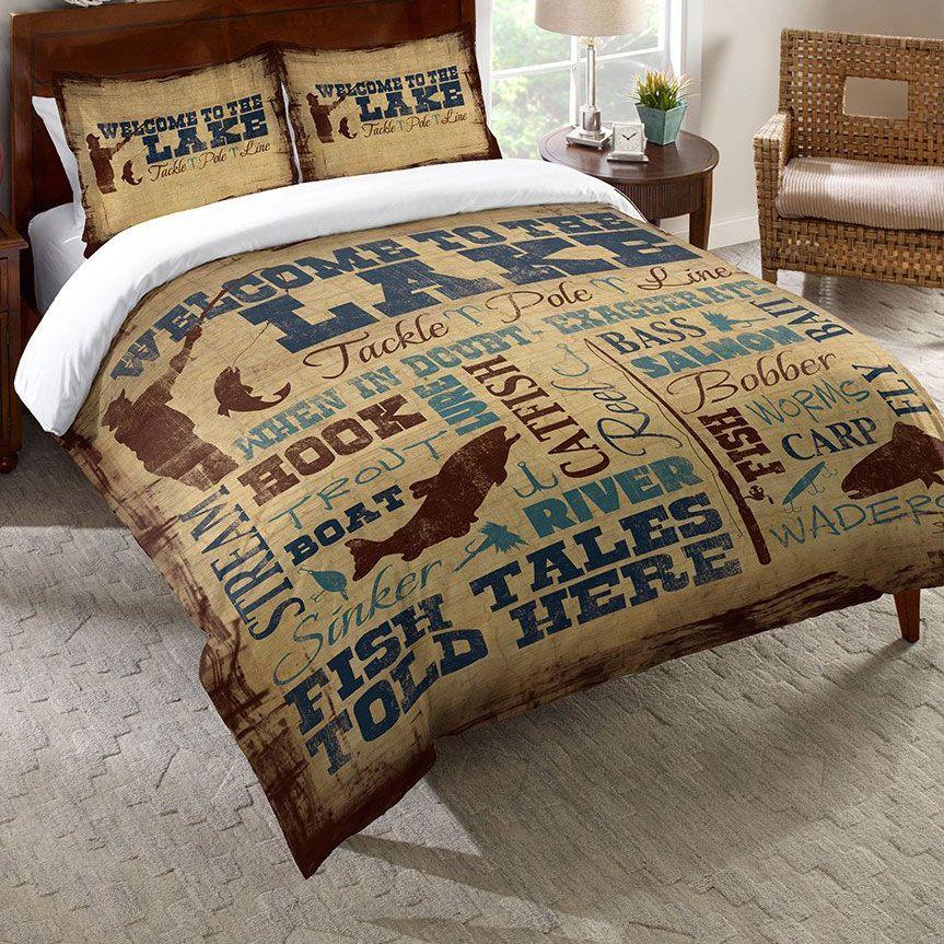 Lake Lifestyle Duvet Cover Twin Lakehouse Fun Comforters