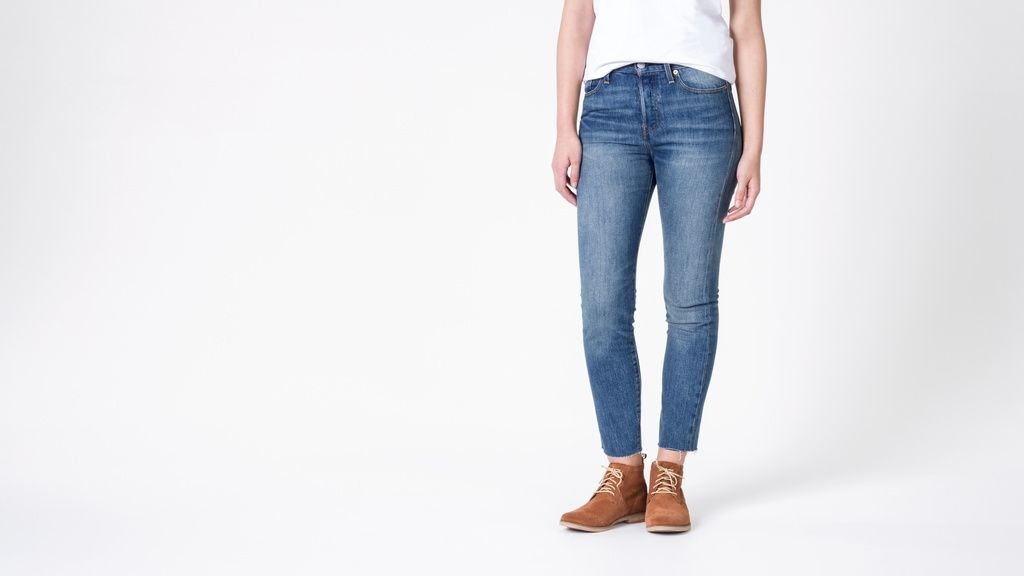 """Perfectly washed denim and a slim vintage inspired fit keep this design as versatile as it is badass. Premium USA woven White Oak denim ensures these will be your go to pair for years to come.  By  Levis.FIT & FEATURES:/ High rise, straight-leg fit / Button fly and closure / 5 pocket design / Raw cut hem / All-over fading / White Oak cone denim / 11.5"""" rise and 27"""" inseamPRODUCT DETAILS:99% cotton / 1% elastane / Machine wash cold / Dry flat"""