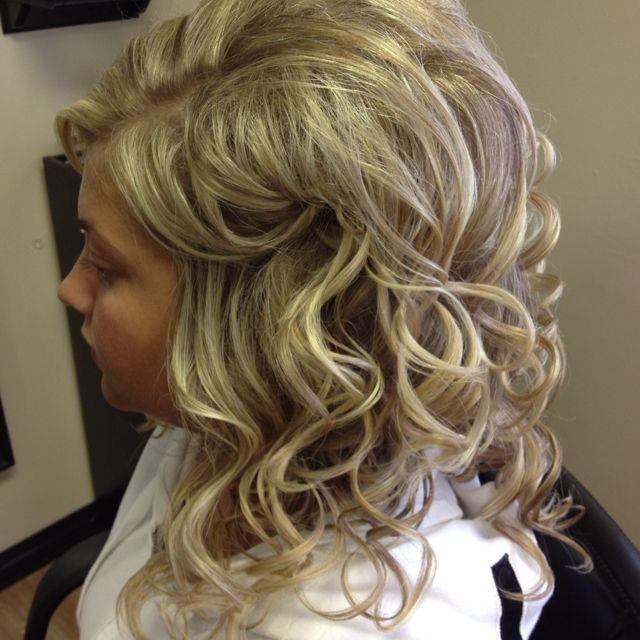 Loose curls formal prom style | Hair styles, Bridal hair ...