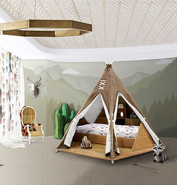 Teepee Ideas For Kids Room ➤ Discover the season's newest designs and inspirations for your kids. Visit us at www.kidsbedroomideas.eu  #KidsTeepee #KidsBedroomsIdeas #KidsBedroomFurniture @KidsBedroomBlog
