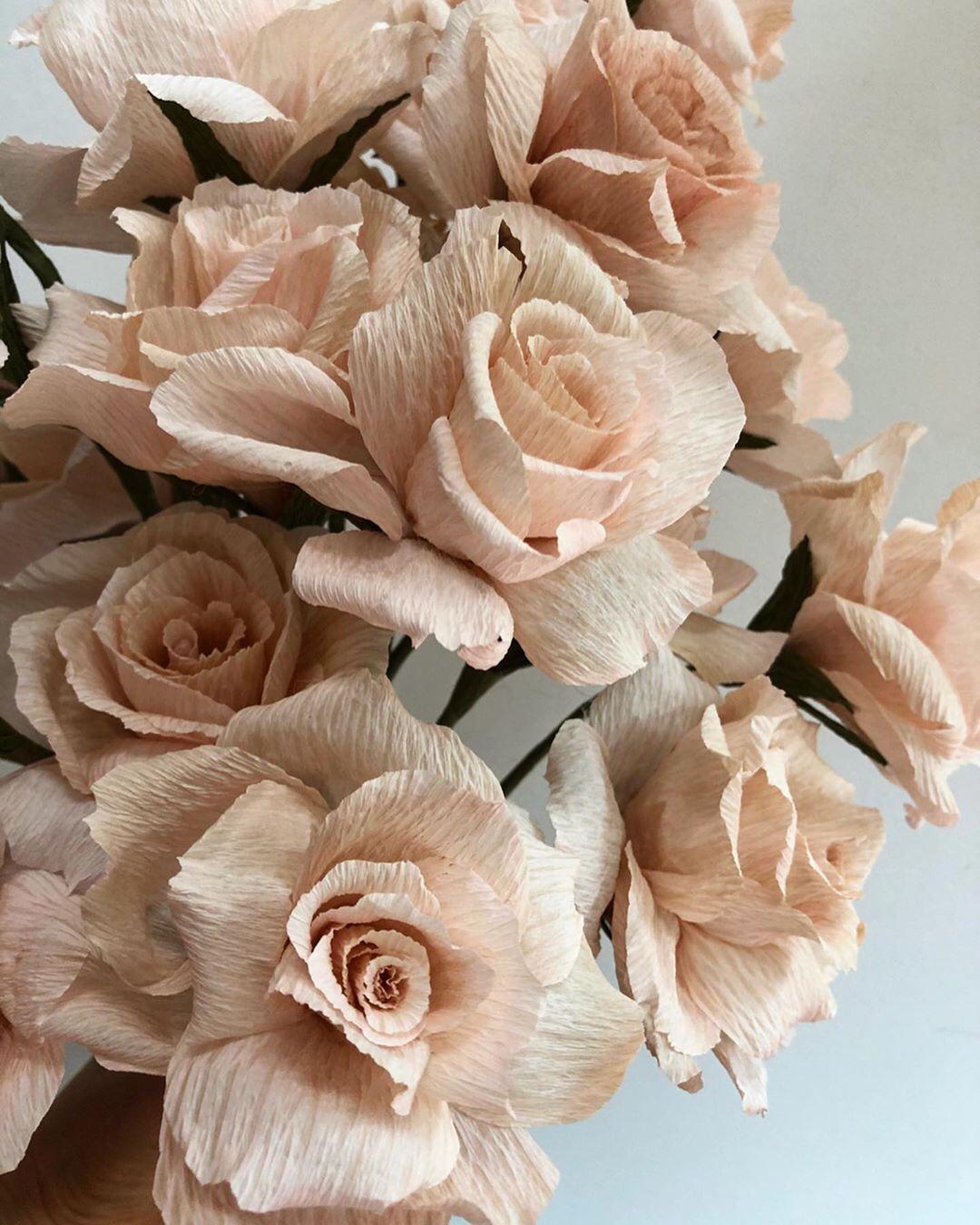 Thanksgiving Chandelier Crepe Paper Rose Paper Roses Paper Flowers Crepe Paper Roses