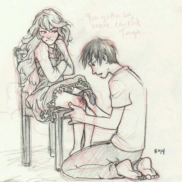 Anime Boy Couple Cute Draw Drawing Girl Kawaii Love